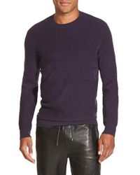 Vince - Purple Wool & Cashmere Crewneck Sweater for Men - Lyst