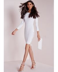 Missguided - Lace Up Side Mini Dress White - Lyst