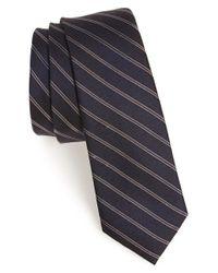 Calibrate - Black 'lomkok' Stripe Silk Tie for Men - Lyst