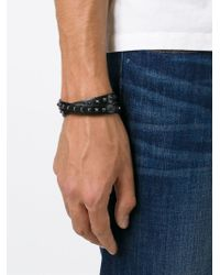 Valentino | Black 'rockstud' Bracelet for Men | Lyst