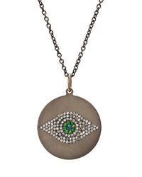 Ileana Makri - Green Evil Eye Tsavorites Necklace - Lyst