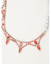 Tom Binns - Red 'splash Out' Double Necklace - Lyst