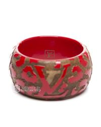 Louis Vuitton | Red Preowned Leo Monogram Wood Bangle Bracelet | Lyst