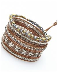 Nakamol | Multicolor Luminous Wrap Bracelet-smokey Quartz | Lyst