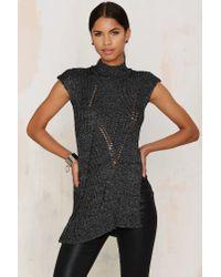 Foxiedox | Gray Knit Playin' Sweater | Lyst