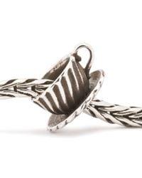 Trollbeads | Metallic Teacup Silver Charm Bead | Lyst