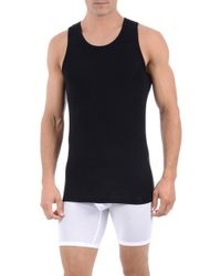 Tommy John - Black 'second Skin' Tank Undershirt for Men - Lyst