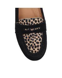 Carvela Kurt Geiger | Black Cali Suede Flat Loafers | Lyst