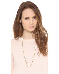 Tory Burch | Metallic Melody Rosary Necklace Ivoryshiny Brass | Lyst