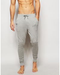 Jack & Jones - Gray Joggers With Cuffed Ankle In Slim Fit for Men - Lyst