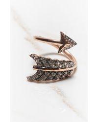 Natalie B. Jewelry | Black Shooting Arrow Ring | Lyst