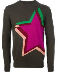 Paul Smith - Green Star Motif Sweater for Men - Lyst
