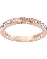 Swarovski | Pink Curly Ring | Lyst