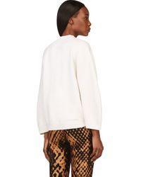 3.1 Phillip Lim - White Ivory Oversized Sleeve Sweater - Lyst