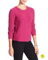 Banana Republic | Red Factory Cable-knit Sweater | Lyst