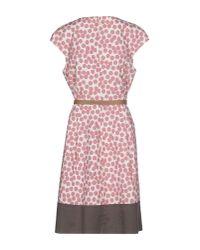 Peserico - Pink Knee-length Dress - Lyst