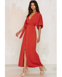 Glamorous - Red Tallulah Maxi Dress - Lyst