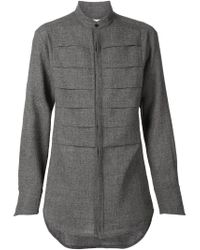 Strateas Carlucci - Gray Pleated Front Shirt - Lyst