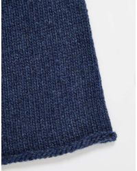 Johnstons | Blue Cashmere Beanie | Lyst