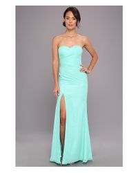 Faviana - Green Strapless Sweetheart Chiffon Gown 7360 - Lyst