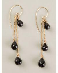 Uzerai Edits | Black 24kt Gold Vermeil Spinel Long Earrings | Lyst