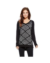 Vince Camuto - Black Two By Eyelash Yarn Weave Design Sweater - Lyst