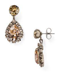 Sorrelli | Metallic Embellished Drop Earrings | Lyst