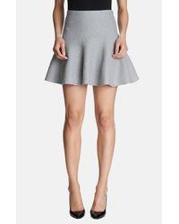 1.STATE | Gray Flippy Miniskirt | Lyst