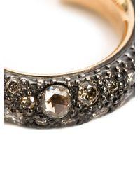 Pomellato | Metallic Diamond Pavé Hoop Earrings | Lyst