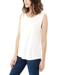 Alternative Apparel - White Muscle Cotton Modal T-shirt - Lyst