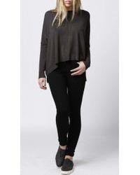 Azalea - Gray Seneca Boxy Sweater - Lyst