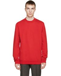 Raf Simons - Red Terry Archives Pullover - Lyst