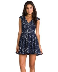 Nicholas - Blue V-Neck Dress - Lyst