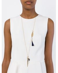 Chloé | Metallic 'harlow' Pendant Necklace | Lyst