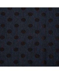 Paul Smith - Blue Men's Navy Polka Dot Moose Reverse Wool-silk Scarf for Men - Lyst