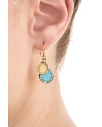 Marc By Marc Jacobs | White Logo Charm Earrings - Blue | Lyst