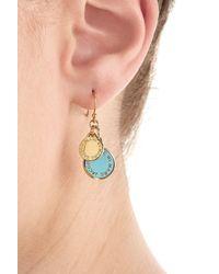 Marc By Marc Jacobs | Logo Charm Earrings - Blue | Lyst
