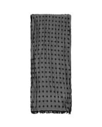Paul Smith - Gray Polka Dot Silk-cotton Scarf for Men - Lyst