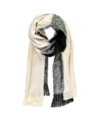 Forever 21 - Black Fringed Oversized Plaid Scarf - Lyst