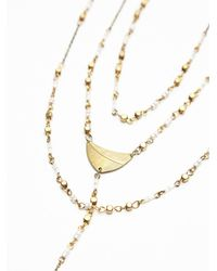 Free People - Metallic Paint The Sky Rosary Necklace - Lyst