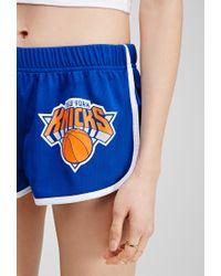 Forever 21 - Blue New York Knicks Athletic Shorts - Lyst