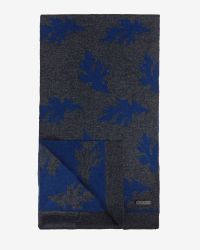Ted Baker | Blue Jacquard Leaf Scarf for Men | Lyst