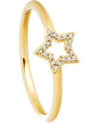 Astley Clarke | Metallic Super Star 14ct Yellow-gold And Diamond Ring - For Women | Lyst
