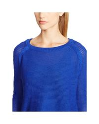 Ralph Lauren - Blue Cropped Cotton Sweater - Lyst
