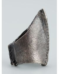 Alice Waese | Metallic Tall Cast Ring for Men | Lyst