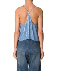 Tibi - Blue All Over Sequins Cami - Lyst