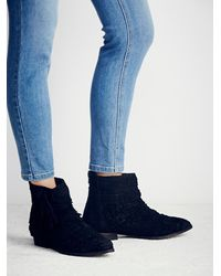 Free People | Black Decades Ankle Boot | Lyst