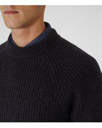 Reiss - Blue Cook Ribbed Crew-neck Jumper for Men - Lyst