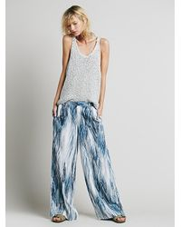 Free People - Multicolor Printed Wideleg Trouser - Lyst