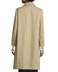 Isabel Marant - Natural Button-front Khaki Trenchcoat - Lyst